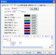 実行中画面の詳細情報表示のフォント、色情報の詳細を設定する画面です。